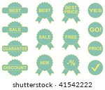 pictogrammes of green colour... | Shutterstock .eps vector #41542222