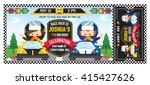 a vector illustration kids in...   Shutterstock .eps vector #415427626
