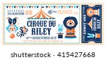 a vector illustration circus... | Shutterstock .eps vector #415427668