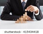 closeup of businessman making a ... | Shutterstock . vector #415434418