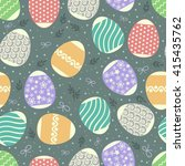 multicolored pattern easter... | Shutterstock .eps vector #415435762