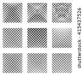 Set Of 9 Grids  Meshes. Set Of...