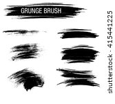 vector set of grunge brush... | Shutterstock .eps vector #415441225