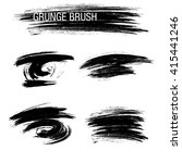 vector set of grunge brush... | Shutterstock .eps vector #415441246