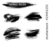 vector set of grunge brush... | Shutterstock .eps vector #415441252