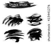vector set of grunge brush... | Shutterstock .eps vector #415441276