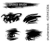 vector set of grunge brush... | Shutterstock .eps vector #415441306