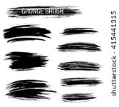 vector set of grunge brush... | Shutterstock .eps vector #415441315