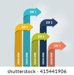 arrow infographics scheme ... | Shutterstock .eps vector #415441906