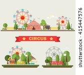 traveling carnival amusement... | Shutterstock .eps vector #415447576