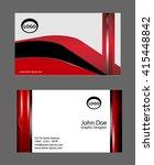 business card template  vector... | Shutterstock .eps vector #415448842