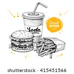 vintage fast food special offer.... | Shutterstock . vector #415451566
