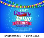 poster or party flyer of cinco... | Shutterstock .eps vector #415453366