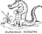crocodille | Shutterstock .eps vector #41546794
