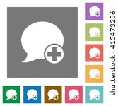 post blog comment flat icon set ...