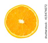 Orange Slice On A White...