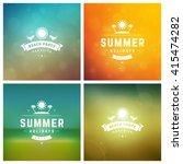 summer holidays retro... | Shutterstock .eps vector #415474282