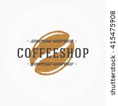 coffee shop hand drawn logo... | Shutterstock .eps vector #415475908