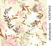 seamless  floral background | Shutterstock . vector #41547643