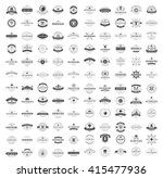 Vintage Logos Design Templates Set. Vector logotypes elements collection, Icons Symbols, Retro Labels, Badges, Silhouettes. Big Collection 120 Items. | Shutterstock vector #415477936