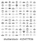 vintage logos design templates... | Shutterstock .eps vector #415477936