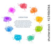 set of  colorful speech or... | Shutterstock .eps vector #415486066