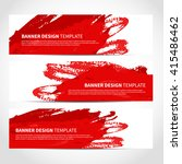 banners. set of trendy red... | Shutterstock .eps vector #415486462