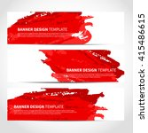 banners. set of trendy red... | Shutterstock .eps vector #415486615
