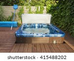 Outdoor Hot Tub  Jacuzzi On Th...