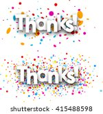 thanks paper banners set with... | Shutterstock .eps vector #415488598