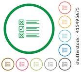 set of questionnaire color...