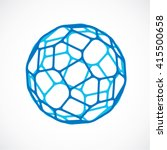 3d vector low poly blue... | Shutterstock .eps vector #415500658
