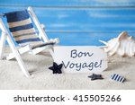summer label with deck chair ... | Shutterstock . vector #415505266