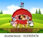 illustration farm background... | Shutterstock .eps vector #415505476
