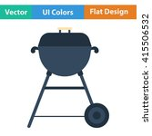 flat design icon of barbecue in ...