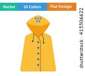 flat design icon of raincoat in ...