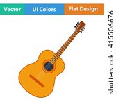 flat design icon of acoustic...