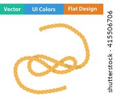 flat design icon of rope in ui...
