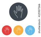 line icon  hand | Shutterstock .eps vector #415507366