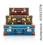 old retro vintage suitcases... | Shutterstock .eps vector #415517278
