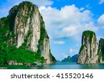 rock islands near floating... | Shutterstock . vector #415520146