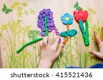 children's hands mold from... | Shutterstock . vector #415521436