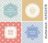 set of vintage frames in grey ... | Shutterstock .eps vector #415522378