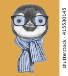 Portrait Of Penguin With...