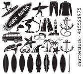 vector set of surfing design...   Shutterstock .eps vector #415531975