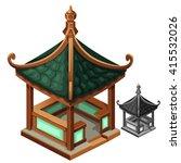Gazebo In Oriental Style....