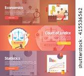 social science of economics.... | Shutterstock .eps vector #415536562