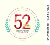 52 years anniversary with low... | Shutterstock .eps vector #415537036