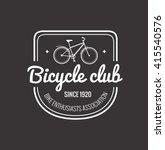 bike badge outline vector... | Shutterstock .eps vector #415540576