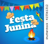 festa junina brazil topic... | Shutterstock .eps vector #415561312